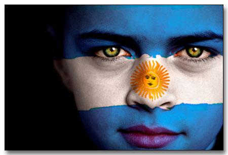 Bandera Argentina Rostro